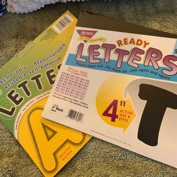 """4"""" Punch out Letters New 2/ packs"""